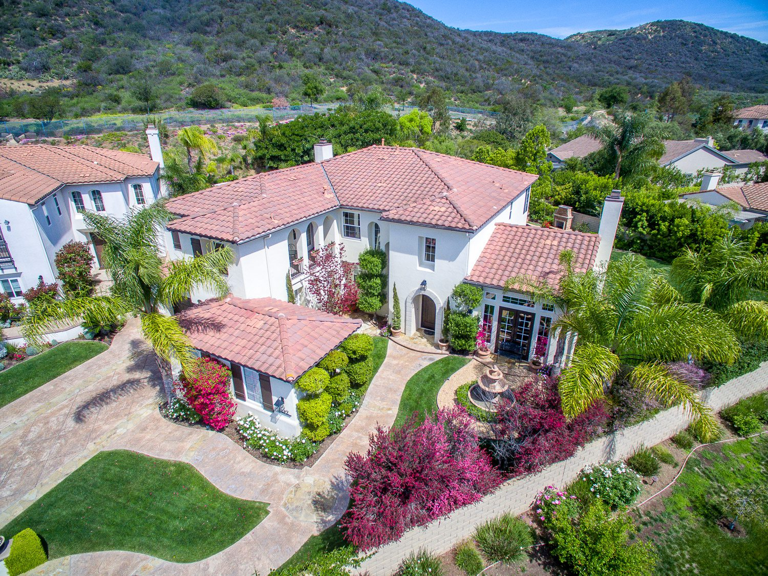 aerial photography, los angeles homes,